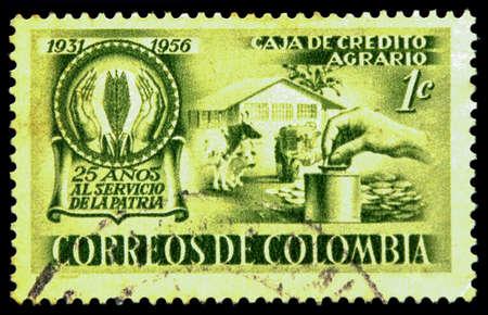 sello postal: sello colombia