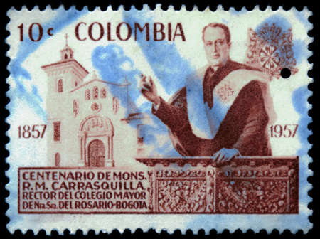 postage stamp: postage stamp columbia Editorial