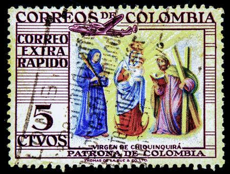 columbia: postage stamp columbia Stock Photo