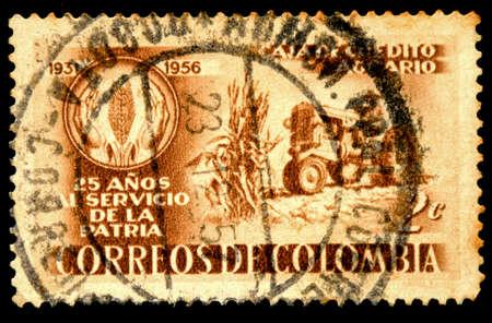 postage stamp: postage stamp columbia Stock Photo
