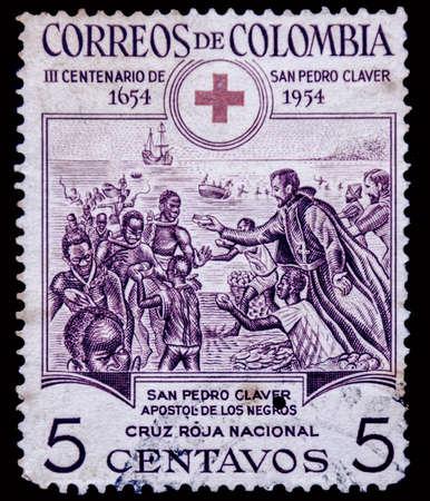columbia: postage stamp columbia Editorial