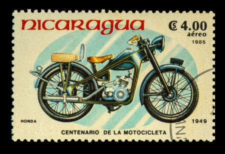 postage stamp: Postage stamp Nicaragua Editorial