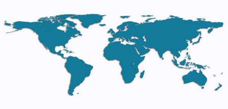 carte du monde: carte du monde Banque d'images