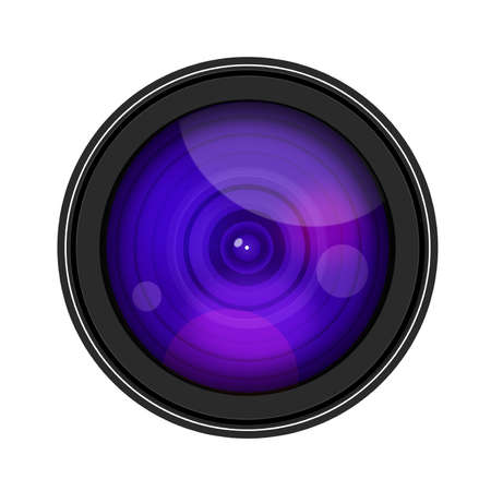 Camera Lense isolate on white background