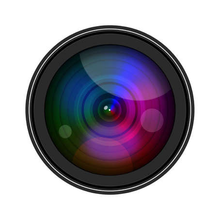 lense: Camera Lense isolate on white background