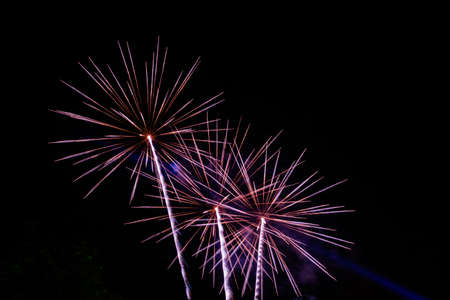 outdoor event: Fireworks Celebration at night