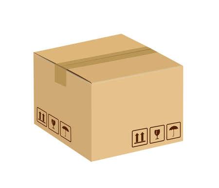 boîte en carton scellée
