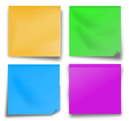 memory board: Blank sticky note on white background