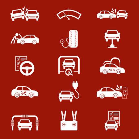 onderhoud auto: Onderhoud van de auto pictogrammen instellen