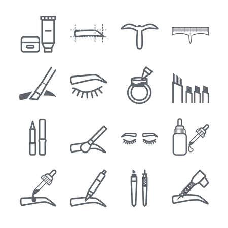 Eyebrow Tattoo stock illustration