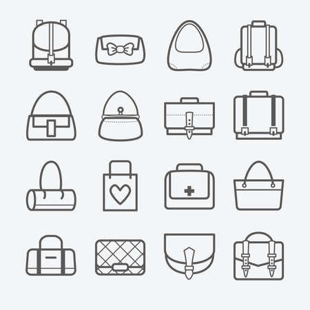 Bag icons vector illustration
