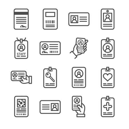 ID cards icons