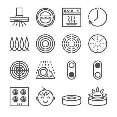 Electric stove icons