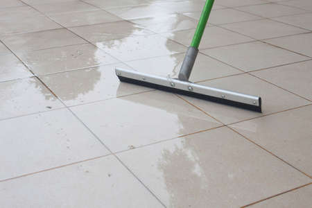 clean hand: show cleaning on floor