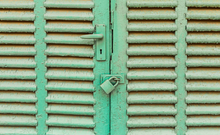 antique frames: Old shutters closed, Old green window