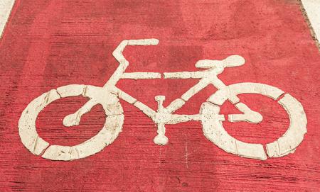 Bike lane asphalt texture