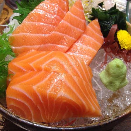 sashimi: Sashimi Salmon Stock Photo