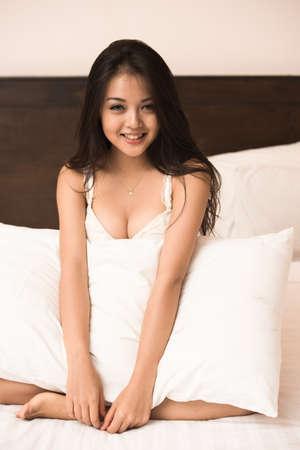 sexy asian woman:  Asian pretty young girl Stock Photo