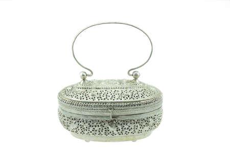 designer bag: Old fashioned silver handbag