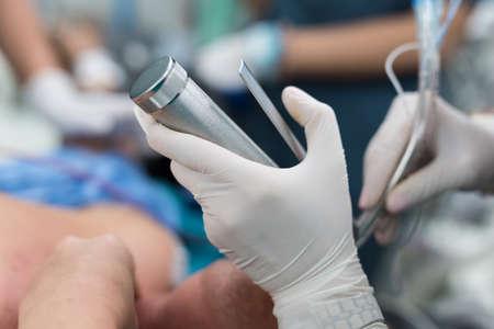 insertion endotracheal tube Stock Photo