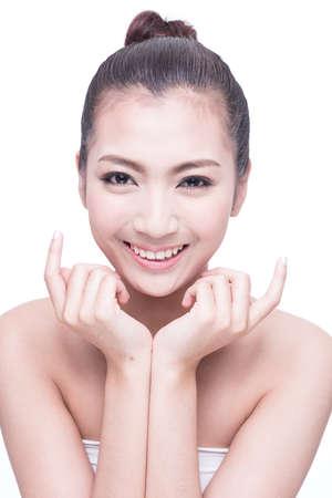 close up: asian sexy woman