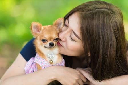 hou van mij hou van mijn hond Stockfoto