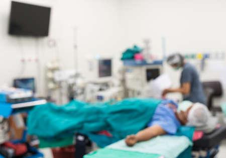medical ventilator: blur image of operation room Stock Photo