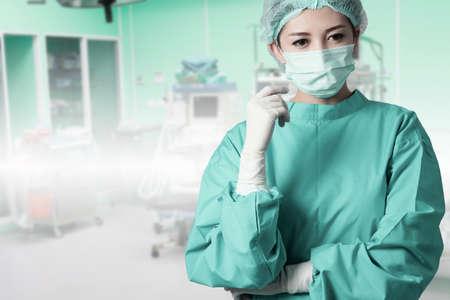 endoscopic: asian woman surgeon