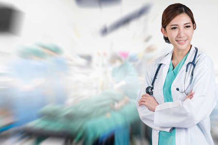 heart suite: asian woman surgeon