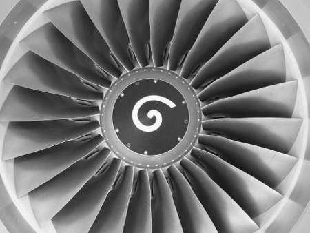 aerospace: Boeing 737s jet engine  Stock Photo