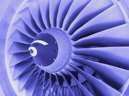Jet engine in blue tone photo