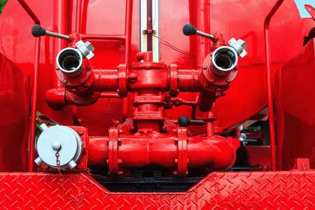 Firefighting machine hydraulics tool of fire engine photo