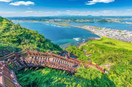 Walkway for hiking at Jeju island