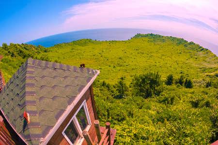 Ilchulbong mountain at Jeju island Stock Photo