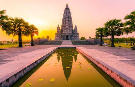 Bodh Gaya Pagoda at Panya nan tharam templa in Pratumthani, Thailand