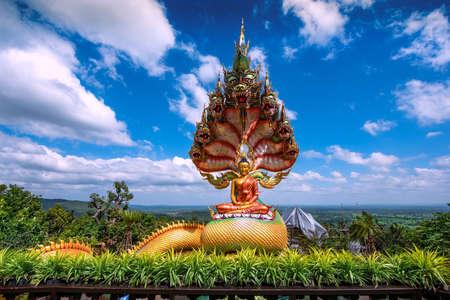 Buddha statue of wat tham pha daen temple, Famous temple of Sakon nakhon,Thailand