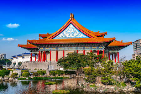Traditional Chinese pavilion with nature in Taiwan
