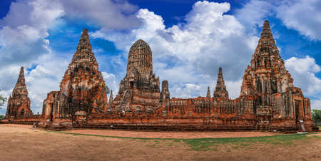 Chai Watthanaram Temple is an ancient temple in the late Ayuthaya period near the bank of the Chao Phraya River West side of the island built during the reign of King Prasat Thong,Thailand
