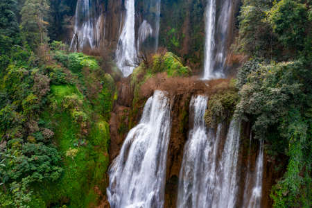 Thi lo su waterfall or tee lor su, Umphang, Tak province, Thailand. This waterfall is one of the most famous waterfalls in Thailand