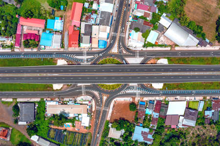 The most beautiful intersection of Kanthararak District, Si Sa Ket Province in Thailand