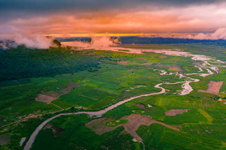 Jom thong mountain viewpoint or Fuji Thailand and Moon river on Nakhon Ratchasima province, Thailand