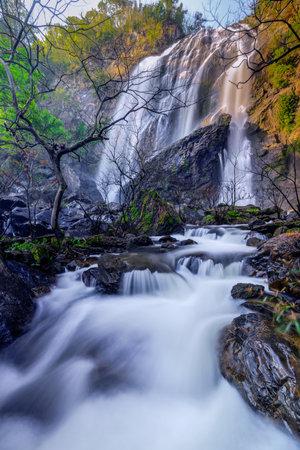 Beautiful waterfall stream at Khlong-Lan National Park,Kamphaeng phet province, Thailand