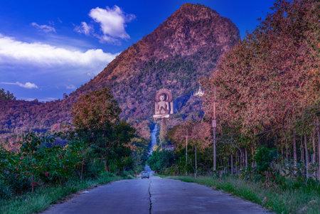 Road to Wat Tham Phrathat Khao Prang, Lopburi province, Thailand