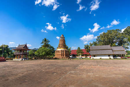 PHAYAO,THAILAND-NOVEMBER 20,2020:Wiang Lo Archaeological Site is located in Jun Phayao Province, Thailand