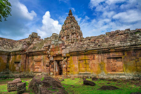 Back of Phanom Rung Historical Park is Castle Rock old architecture at Buriram Province ,famous attractions landmark , Thailand. Editorial