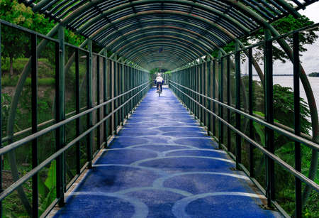 Naga bike tunnel is one of the landmark in Nakhon Phanom, which is bicycle lanes