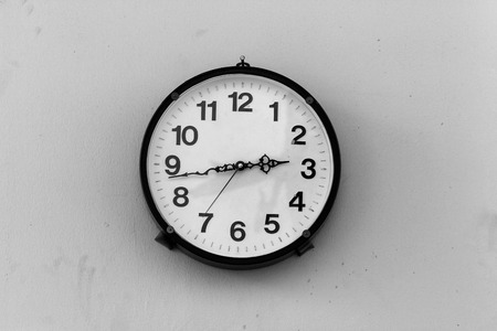 cipher: Classic Clock on dirty walls with Black and White.
