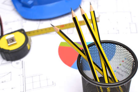 Tools for construction drawings photo