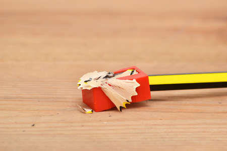 Sharpener and pencil