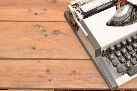 creativ: Typewriter on wood Stock Photo